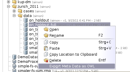 Exporting Meta Data as OWL
